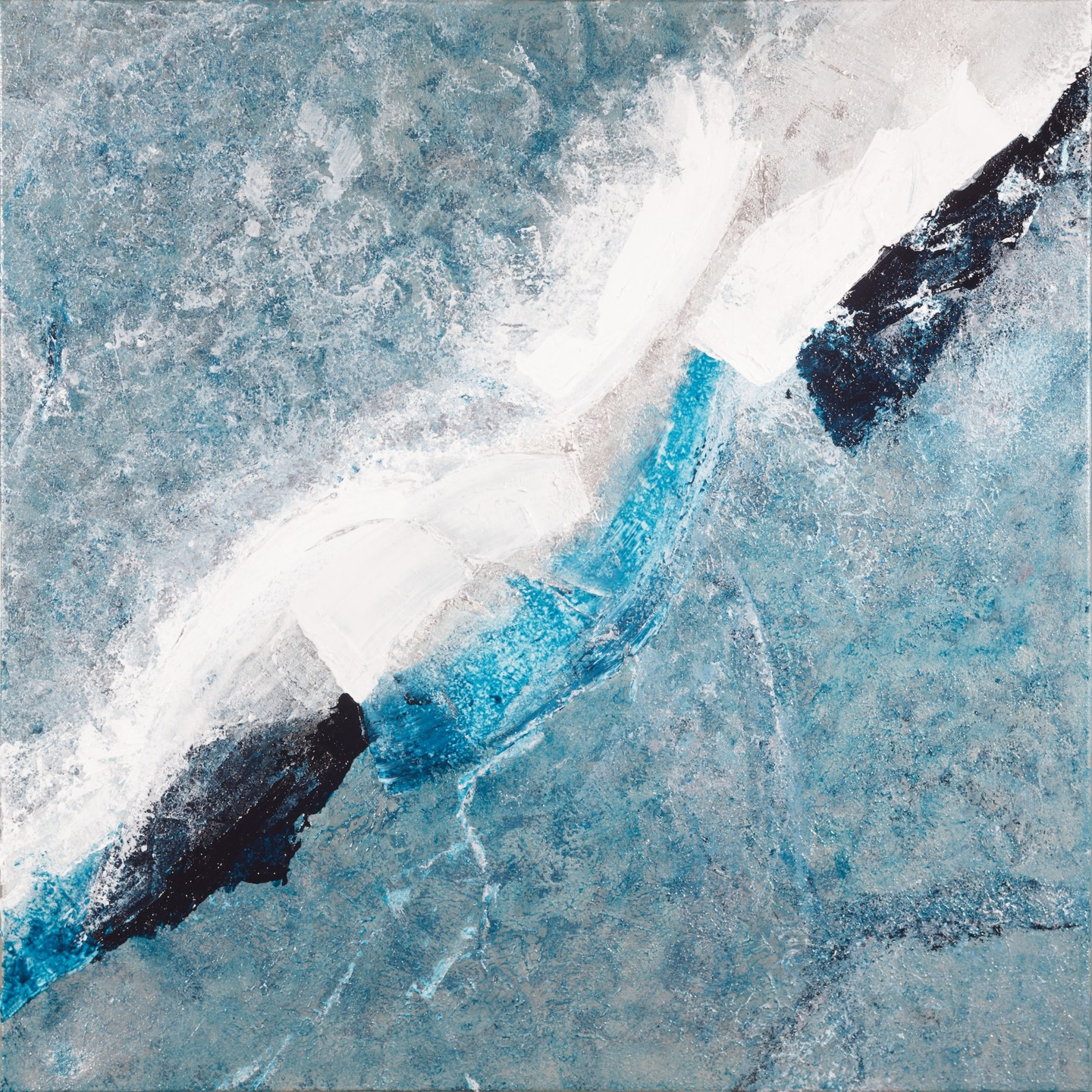 Klara Gunnlaugsdottir - Frozen Lake (Ready to hang - Free shipping)