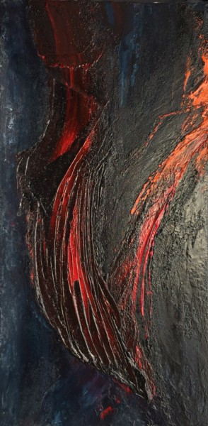 Flow of Lava #1605 Ready to hang-Free shipping