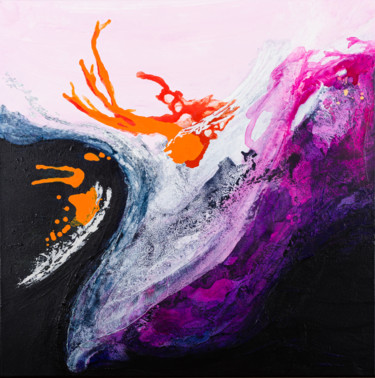 Vibrant Flow 1 (Ready to hang-Free shipping)