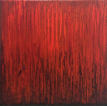 Red Flames #1941 Ready to hang-Free shipping