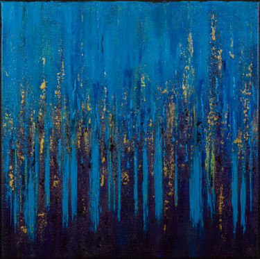 Blue Flames #1952 Ready to hang-Free shipping