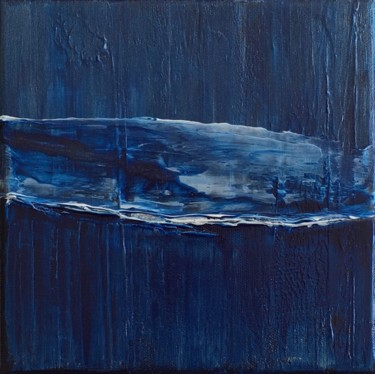 Blue Calm #1975 Ready to hang-Free shipping