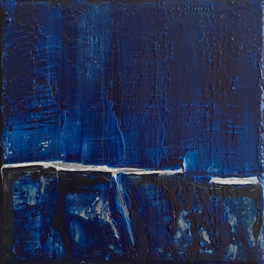 Blue Calm #1976 Ready to hang-Free shipping