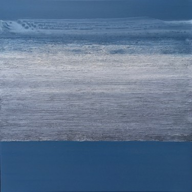 Blue-Gray Calm #2020 Ready to hang - Free shipping
